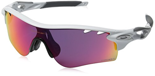 Oakley Men's Radarlock Path (a) 0OO9206 Non-polarized Iridium Wrap Sunglasses, Polished White, 38.03 mm