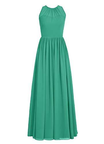 Dresstells, Robe de soirée sans manches, robe de cérémonie, robe longue de demoiselle d'honneur Vert