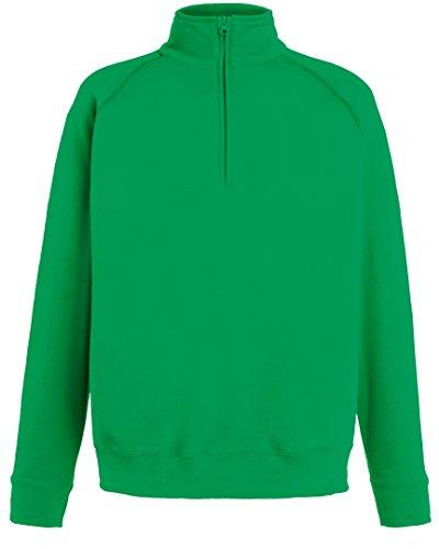Fruit of the Loom Lightweight Zip Neck Sweatshirt - 14 Farben / Gr - Orange - XL