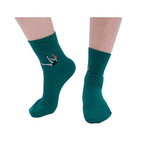 (XuxMim Frauen halten warme Baumwoll-Skateboard-Socken-bequeme Bodensocken)