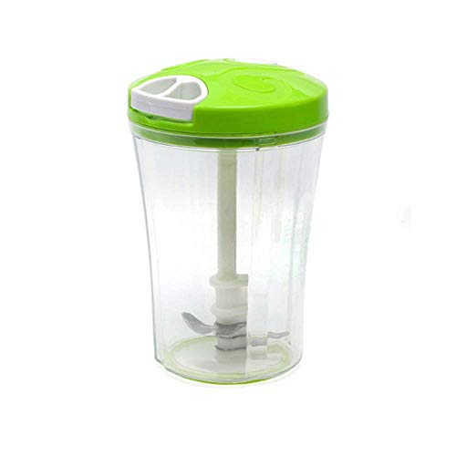 AYHa Manuale di verdure Chopper selettore rotante a doppia mano portatile Pull Food Processor Frutta Trick or Treat di verdure Cucina Gadget (1000 ml), Giallo,verde