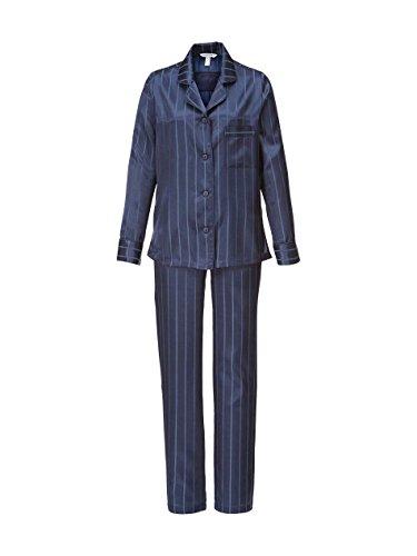 Taubert Berlin Satin Pyjama Damen Schlafanzug 36 navy (4900) (Satin Navy Pyjama)
