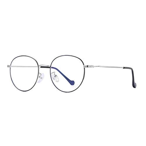Yefree Unisex Retro Optische Gläser Runde Vollrandbrille mit klarem Glas und flexiblem Scharnier