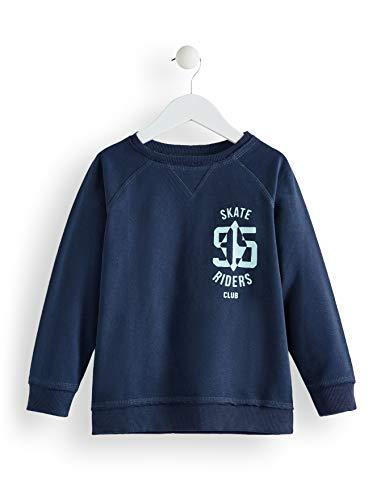 RED WAGON Jungen Sweatshirt mit Sport-Logo, Blau (Navy), 146 (Herstellergröße: 11) -