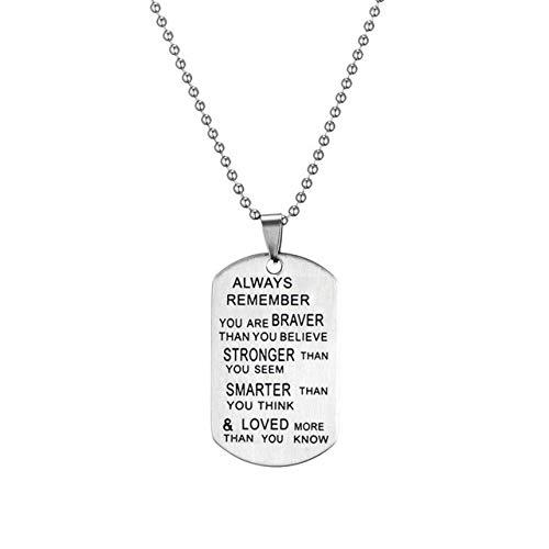 DADATU Halsketten für Herren Edelstahl Kette Halsketten Mens Hund Tags Armee Anhänger Halskette Mode Custom Immer Geliebt Schlüsselanhänger Beste Freundin Schmuck (Custom Hunde Kostüm)