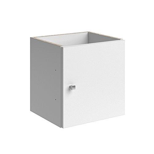 Vicco Türeinsatz Tetra Raumteiler Zubehör Bücherregal Standregal Aktenregal 2 Schubladen Passend zu All Unseren Raumteilern (Weiß, 3er Set)