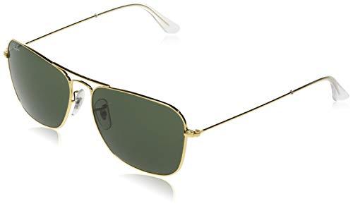 Ray-Ban Unisex Sonnenbrille Rb 3136 Gestell: Gold, Gläser: Grün Klassisch 001), Large (Herstellergröße: 55)