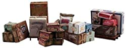 Scenic Accents Miscellaneous Packaged Freight (Boxes, Crates, Sacks Total 6 Diff.) Ho Scale Woodland Scenics