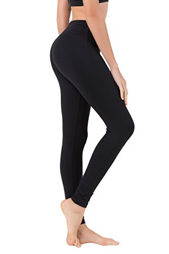 Queenie Ke Damen Sport Yoga Gestreckt Legging Hose Leggings Size XXL Color Noir (Sport Hose)