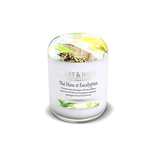 Eukalyptus-home-kerze (Heart & Home Kerze, klein, weißer Tee und Eukalyptus)