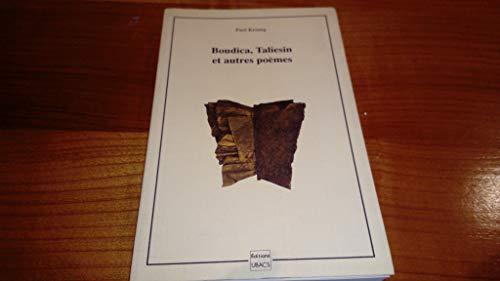 Boudica Taliesin et autres poèmes UBACS 1990