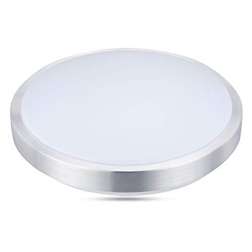 Lampwin LED Deckenleuchte Deckenlampe 24W Kaltweiß Licht 6000K, 2000 Lumen, Möbeleinbauleuchte Deckenlampe Leuchte für Schlafzimmer, Esszimmer, Spannung 220V-240V, Φ400mm x 100mm
