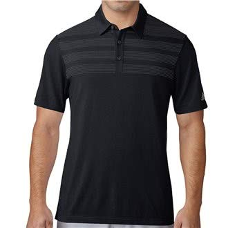 Mens Performance Golf Shirt (adidas 2017 Men's Golf 3 Stripes Mapped Performance Polo Black XL)