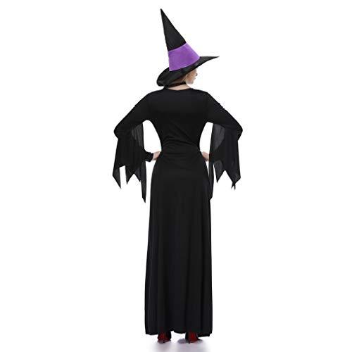 Schwarz-lila Hexe Kleid Zauberin Cosplay Erwachsene Halloween-Partei-Kostüm ()