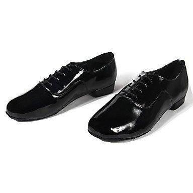 Scarpe da ballo-Personalizzabile-Da uomo-Balli latino-americani-Basso-Finta pelle-Nero Bianco Black