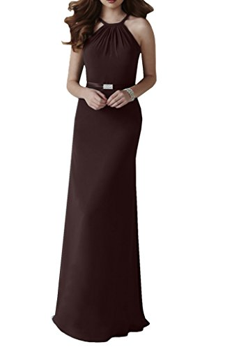 Missdressy -  Vestito  - halterneck - Donna Marrone