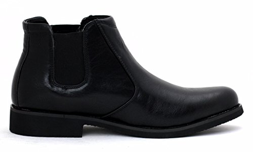 neuf pour hommes Mode Bottines Chelsea Décontracté Chaussures Créateur élégant À Enfiler taille Noir