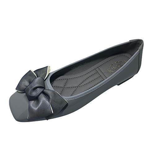 Ears Frauen Sommer Erbsen Schuhe Bogen Flache Einzelne Schuhe Freizeitschuhe Schuhe Plus Größe Römische Schuhe Einfarbig Böhmische Schuhe Mode Strand Sandalen Hausschuhe -