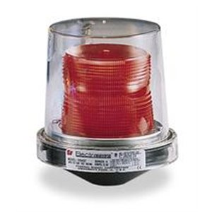 Federal Signal 225XST-120R Electraray Hazardous Location Strobe Warning Light, 1/2 NPT Pipe Mount, 120 VAC, Red by Federal Signal