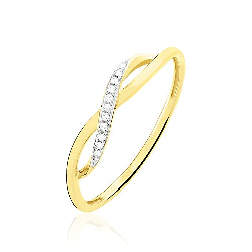 You.Me.We. - Bague Fine - Diamant et Symbole Infini - Or...
