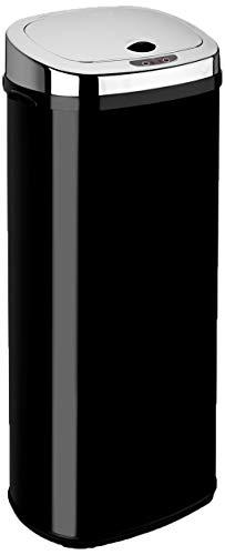 Dihl Abfalleimer mit automatischem Deckel, rechteckig, 50l, Schwarz