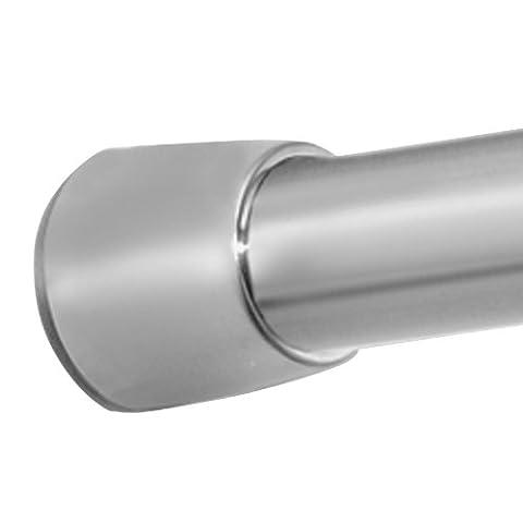 InterDesign Forma Duschvorhangstange 78670EU, hochwertige Duschstange ohne Bohren, Duschvorhang Halterung mit einfacher Montage, Edelstahl gebürstet