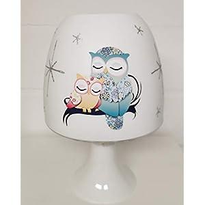 ✿ Tischlampe ✿ Eule Owl 11 ✿ Tischleuchte ✿ Schlummerlicht ✿ Nachttischlampe ✿ Lampe ✿