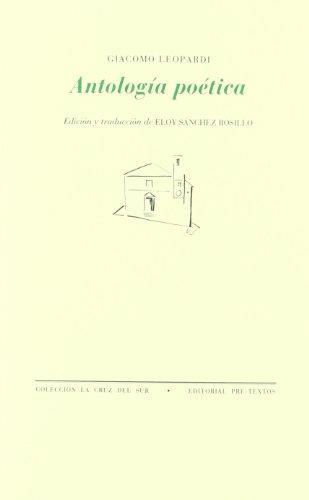 Antología poética (La Cruz del Sur) por Giacomo Leopardi