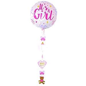 first-us Folienballon Folien Ballon Ballons mit Hänger Helium Its A Girl Baby Geburt Party Feste Feier Eventdekoration Besondere Anlässe Geburtstag Neu