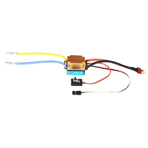 MagiDeal Two Way Operated Mode 60A Brushed ESC Suitable For 1/10 scale RC Car Truck Crawler