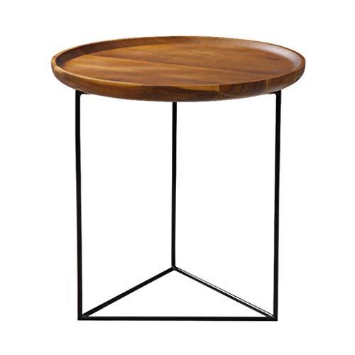 Mechanische Snack (LIUXIUER Sofa Beistelltisch Tablett Kleinen Runden Tisch Designer Persönlichkeit Nordischen Stil Wohnzimmer Massivholz Mini Runden Europäischen Couchtisch, 50X51x40 cm Snack Tisch)