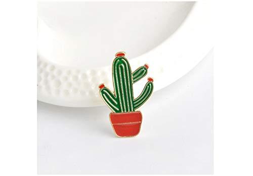 Truteraa - Weihnachten Hut Gitarre mexikanische Kaktus Emaille-Abzeichen Metall Mädchen Jeans Tasche Dekoration Geschenk Art und Weise Schmucksachen [Kaktus] (Weihnachten Bulk Hüte)