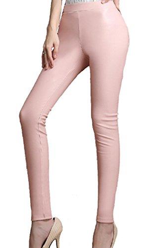 helan-damen-stretch-pu-leder-gamaschen-leder-bleistift-hosen-pu-leder-leggings-eu-36-rosa