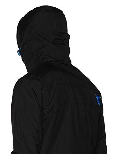 Superdry Herren Sportjacke Tech Hood Pop Zip Windcheater Schwarz (Black/super Denby)