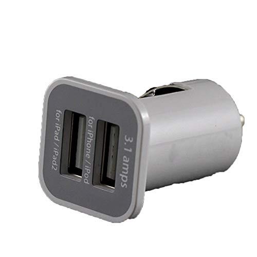 Nordira Auto Ladegerät USB, Universal Auto Auto Ladegerät Mini Dual Ports USB Socket Adapter für Telefon Weiß Telefon Socket Adapter