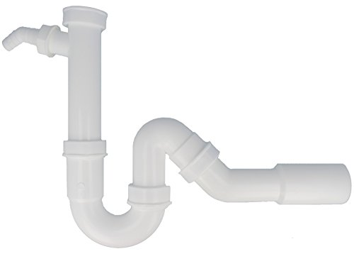 tecuro Ablaufgarnitur Siphon-Geruchsverschluß - Spülen Abgang hinten/unten