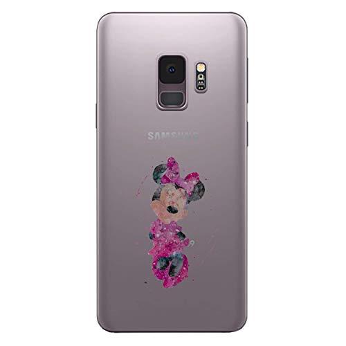 I-CHOOSE LIMITED Fan Art Case Handyhülle für Samsung Galaxy S9 (G960) mit Schirmschutz/Gel/TPU/Minnie Maus - Farben