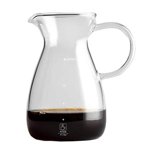Serveur à café en Verre Transparent de 500 ML, Carafe à café en Verre Standard, cafetière
