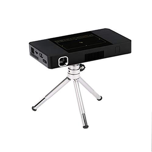 WANGLX ST Tragbar C10 Clever Beamer Geschäft Zuhause HD Mikro Beamer Multimedia Film Zuhause Kino kompatibel HDMI/USB/DC/TF-Karte, Black