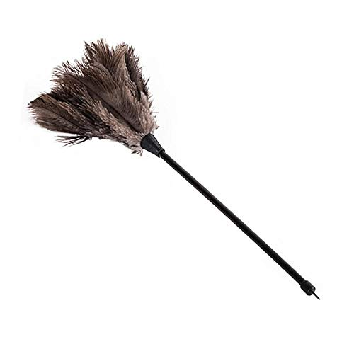 luoshui Mini Duster Feather Dust Ostrich Soft Handmade Touch Comfortable Silky Black Feathers Used In Cars Household Mini Black Dust
