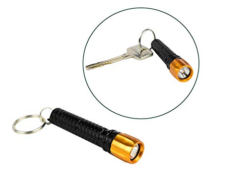 munkees Mini LED Taschenlampe mit Drehfunktion Aluminium Taschenlampe für Camping, Radfahren, Klettern und Outdoor Aktivitäten 1036