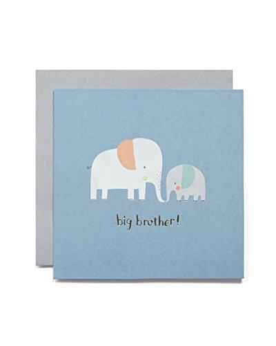 Mamas & Papas New Baby Card, Bleu, Big Brother