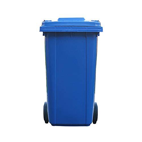SJLJT-Trash Can Contenedor De Basura Grande Saneamiento 240L Recipiente De Clasificación De Plástico...
