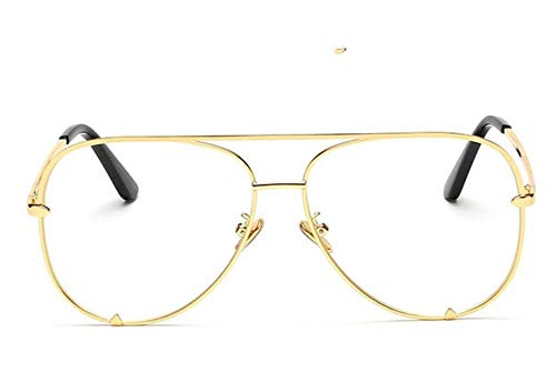 YYXXZZ Sonnenbrillen Flache Brille Schwarze Frauensonnenbrille mit Farbverlauf, Jin Ming