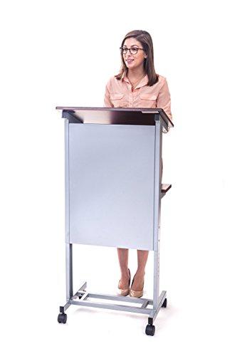 Stand Up Desk Store mobile tavolino regolabile in altezza podio, telaio in acciaio resistente