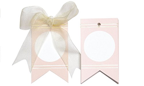 Circles and Gold Lines Gift tags (Pink)
