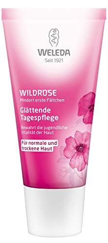 WELEDA Wildrose Glättende Tagespflege, Naturkosmetik Gesichtscreme für trockene Haut zum Schutz vor Falten und Hautalterung, für Vitalität und Elastizität der Haut (1 x 30 ml)
