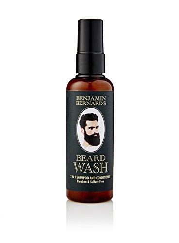 Bartshampoo - 2-in-1 Shampoo & Spülung von Benjamin Bernard - Bartpflege hergestellt mit 100{bb58816a03a6dd0d3ccf7c83d4c356e6a783f02ccc9c3217c0a733cff5d85521} natürlichen Ölen - frischer Duft - parabenfrei + sulfatfrei - 100 ml