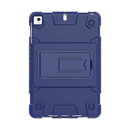 Mumuj Schutzhülle,Kunststoffcase Robustes Hard Ständer-rückseitige Abdeckung Handyhülle Anti-Fall Handyhalter Schutz tragen für Apple 7.9 Zoll iPad Mini 5 2019 (Blau) (Für Fall Rotierenden Ipad Mini)