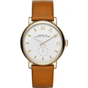 Marc Jacobs MBM1316 - Reloj con correa de cuero, para mujer, color blanco / marrón de Marc Jacobs